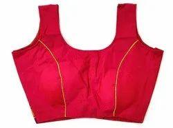 Khun Ladies Pink Sleeveless Designer Blouse, 50, Size: 34