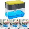 Plastic Soap Pump Dispenser With Sponge Holder