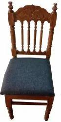 Brown Teak Wood Dining Chair