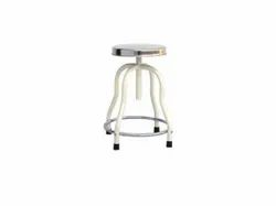 ASF Revolving Stool For Patient With 4 Legs And SS Top With Ring