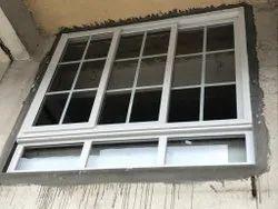 Light Oak Residential UPVC Georgian Bar Sliding Window, Glass Thickness: 6mm