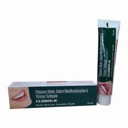CLOSIN-K GEL Toothpaste For Sensitive Teeth I 50 gms Pack