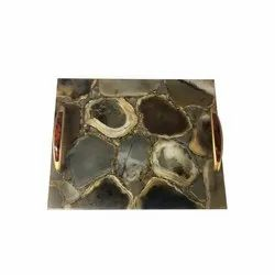 Agate Stone Serving Trays