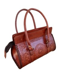 Handmade Leather Stamp Designs Lady Handbags