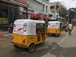 Design - Print - Fabrication Auto Rickshaw Advertising Service, Mode Of Advertising: Outdoor, Size: 40 Sqft