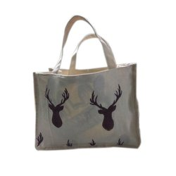 Handled Off White Multipurpose Cotton Bag, Capacity: 15 Kg, Size/Dimension: 13'' X 9'' X 6''