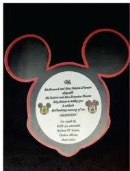 Acrylic Birthday Invitation Card, 1 Leaflet