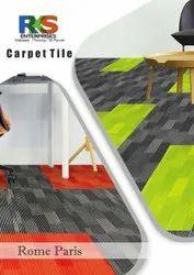 Rks Enterprises 100 % polyolefin Carpet Tile Rome Paris, Size: plank, Usage Area: Hall