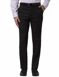Plain Formal Wear Men Black Cotton Pant, Size: S - XXL