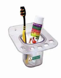 Plastic transperent Toothbrush Holder, Size: Medium, Number Of Holder: 6