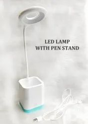 Lazy Neck LED Table Light Study Pen Stand