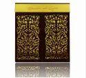 Knkup022 Laser Cut Velvet Cloth Hanging Bells With Lcd Tv Box Wedding Invitation Card
