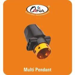 Black Multi Pendant Bulb Holder