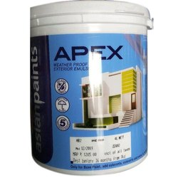 Asian Apex Ultima Weather Proof Emulsion Paint, For Exterior, Packaging Size: 4 L