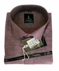 Sapphire Cotton Men Pink Formal Shirts, Size: 42 (xl)