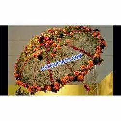 Fabric Wedding Stylish Umbrella With Flowers