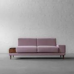 Wooden (Frame), Fabric (Seat) 2 Seater Modular Sofa, Living Room