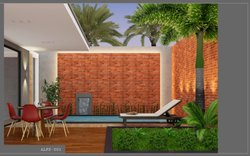 Red Matt Ceramic Elevation Wall Tiles, Size: 30  * 60 in cm, Thickness: 5-10 mm