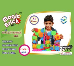 Multicolor Magic Brick Toys 192 Pieces, Size/Dimension: 2wedth * 1.5 Length