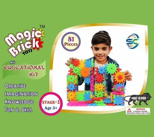 Multicolor Magic Brick Toys 192 Pieces, Size/Dimension: 2wedth * 1.5 Length