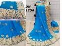 Georgette With Embroidery Design Saree