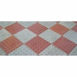Cement Car Parking Chequered Floor Tile, Square, Thickness: 20 mm