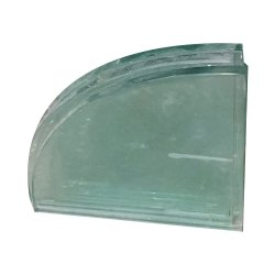 Transparent Corner Plain Glass, Shape: Flat