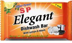 Solid Fmcg SP Elegant Dishwash Bar 80 Grams, Packaging Type: Polypack