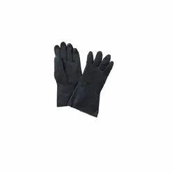 Plain Premium Industrial Rubber Gloves, 11-15 Inches, Finger Type: Full Fingered