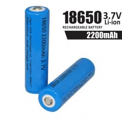 18650 li ion batteries 3 7v 2200mah