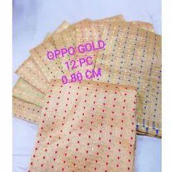 Golden Colour Blouse Pieces