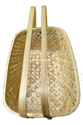 Handcrafted Bamboo Natural Gift Hamper Basket 12 Inches X 8 Inches With Double Handle