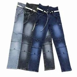 Stretchable Casual Wear Girls Jeans, Handwash