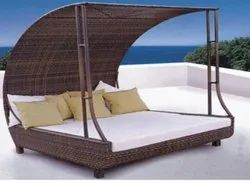 Bed Type Brown Mild Steel Cabanas, For Pool Side