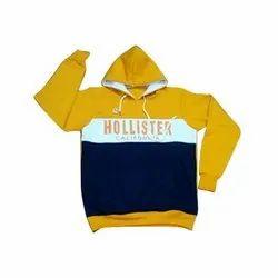 Printed Full Sleeves Hooded Sweatshirt, Size: Large