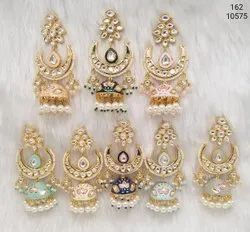 Meenakari Party Wear Jhumka Earring