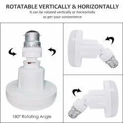 15 Watt LED Bulb Light Lamp O Shape with Rotatable Vertically and Horizontally - Cool White
