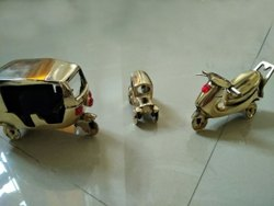 Golden Brass Tempo Car Handicraft Toys, For Decoration