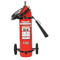 Safety Plus B, C 9kg Co2 Trolley Mounted Fire Extinguishers, For Industrial