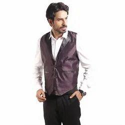 Festive purple Men Waistcoat