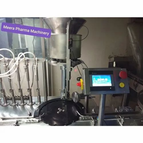 Automatic 8 Head Vial Filling Stopping And Sealing Machine