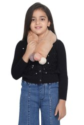 72 Cm Unisex Crya 'Fur Pom-Pom' Winter Scarf For Kids And Teens