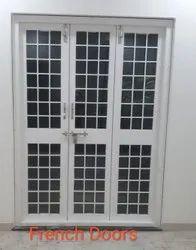 White Aluminium French Door, For Home