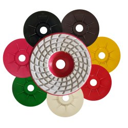 CUMI Dia Ceramica Polishing Pads With Plastic Holder
