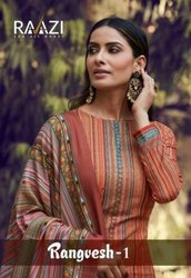 Rama Fashion Rangvesh Vol 1 Digital Printed Pashmina Dress Material Catalog