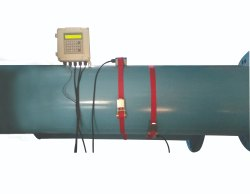 manas microsystems Clamp On Type Ultrasonic Flow Meter, Application Media: Clear Water, Model Name/Number: Ps3030 W