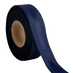 Gross Grain Satin - Navy Blue Ribbons 25mm /1''inch 20mtr Length