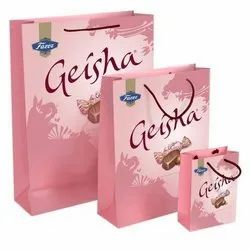 Multicolor Printed Paper Bags, For Shopping, Capacity: 2kg