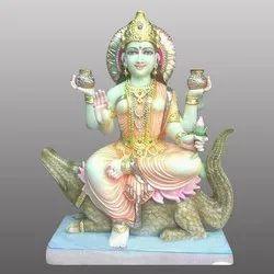Marble Goddess Maa Ganga Devi Statue