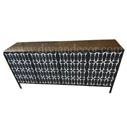 Net Geo Bone Inlay Large Sideboard Chest of Drawers